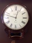 Mahogany single fussee wall clock