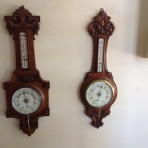English antique aneroid barometers