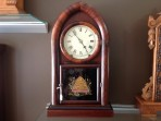 Beehive mantle clock